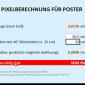 Pixelberechnung für Poster