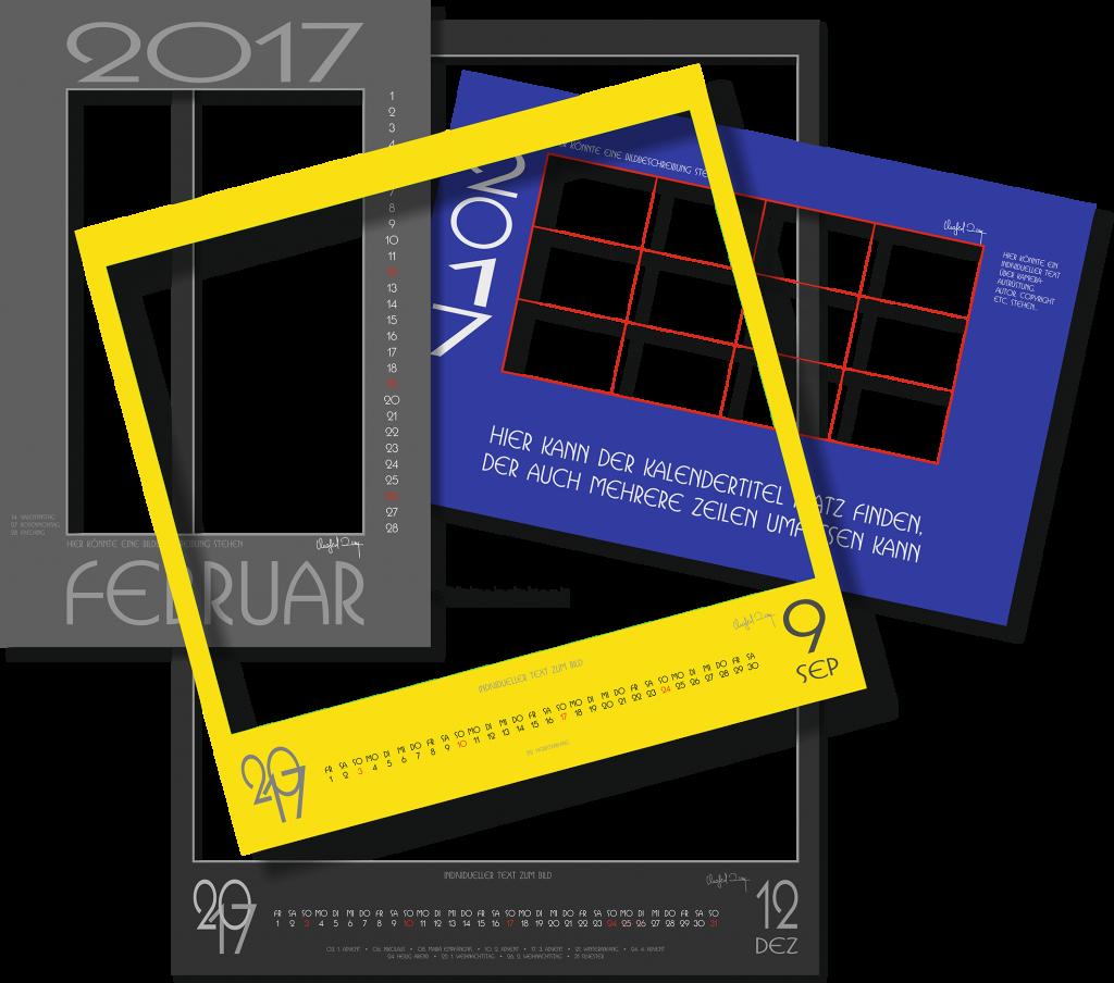 Beispielkalendarien für 2017
